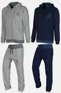 Adidas Originals Spo Treefoil Fleece Men's Full Tracksuit Set In 2 Colours
