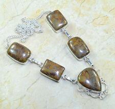 multicolor jaspe piedra preciosa plata de ley 925 Collar 50.8cm X7817