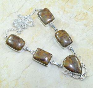 A sign Petite picasso jaspe semi-Edelstein cadena collar multicolor magnético 45 cm