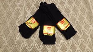 Vtg 3 Pr Lot Hanes Red Label Dress/Casual Socks NAVY BLUE Sz 10-13 Acrylic/Nylon