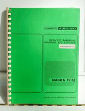 Manutel d'utilisation (Grande taille) Nagra IV-SJ
