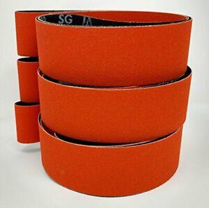 Norton Blaze 2x72 Premium Ceramic Sanding Sharpening Belts 3 Pack with 36 Gri...