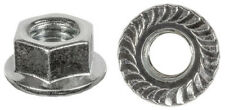 25 M10-1.50 Metric Spin Lock Nuts With Serrations