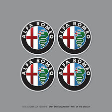 SKU2264 - 4 x Alfa Romeo Alloy Wheel Centre Cap Stickers Car - 60mm