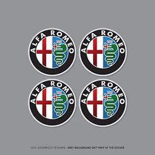 SKU2260 - 4 x Alfa Romeo Alloy Wheel Centre Cap Stickers Badges Car - 50mm