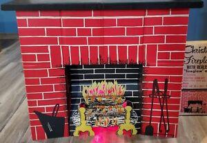 Vintage Toymaster Electric Christmas Fireplace #1100 Fireglow Effect Cardboard