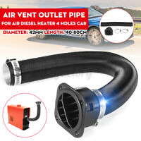 42mm Air Duct Pipe + Warm Air Outlet Clamp For Webasto 4 Holes Diesel Heater