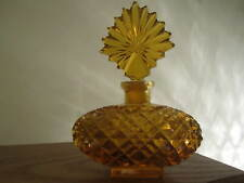 Czech Perfume Bottle - 1930's - Amber Colored