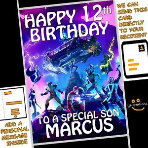 Personalised FORTNITE Birthday Card Son Grandson Boy Nephew Gamer Gaming (A5)
