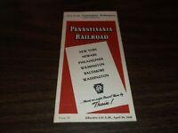 APRIL 1949 PRR PENNSYLVANIA RAILROAD FORM 79 NEW YORK TO WASHINGTON