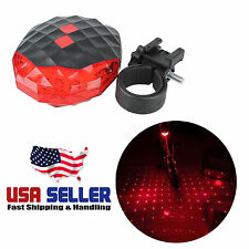 Bike Bicycle Stars Laser Taillights Cycling Safety Warning LED Light Accessory