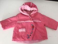 CATIMINI veste rose 6m mois filles 67 capuche doublée en fourrure très bon état bébé designer
