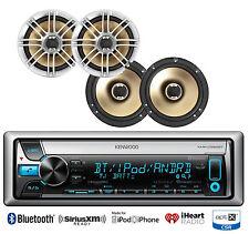 """4 Marine Polk Audio 6.5"""" Speakers,Kenwood Marine Bluetooth iPod USB AUX CD Radio"""