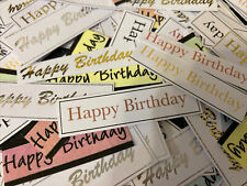 101 X Mixed Happy Birthday Sale Bag /card Making /Clearout