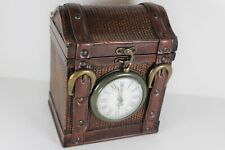 Jewelry Cabinet Chest Organizer Wood Storage Box Clock Old Style Decorated