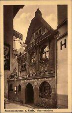 Assmannshausen Rhein Hessen s/w AK 1926 gelaufen Alte Bauernschänke Winzerstube