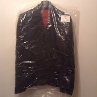 """New """" Dimensions"""" Size 14 Tailored Black With Red Stitches Fitted Jacket Blazer"""