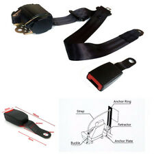 Adjustable Retractable Iron Plate Style 3 Point Car Seat Belt Lap &Diagonal Belt
