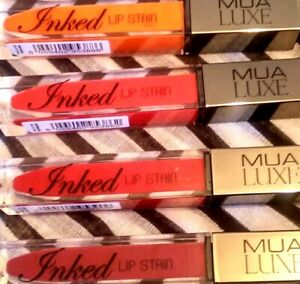 MUA LUXE INKED LIP STAIN ALL SHADES BRAND NEW & SEALED ONLY £2.49 FREE POST !!!