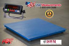 "5 Year Warranty 48"" x 48"" (4' x 4')  Floor Scale Pallet RS-232 2,500 x .5 lb"
