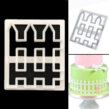 Fence Icing Cutter Fondant Mould Cake Cookie Mold Sugar craft DIY Tool UK