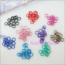 100Pcs Jump Rings Open Connectors Black Red Blue Pink Mixed etc.5mm