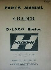 Huber Grader D-1000 Series Master Parts Manual 186pg D-1400 D-1300 D-1500 CAT