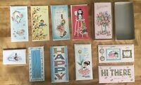 """VTG 40's/50's Set Of Boxed All Occasion Greeting Cards, """"BEST WISHES"""", 10 Cards"""
