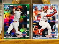 🔥⚾️🔥 2019 Bowman Chrome Bryce Harper SP Green 99 SSP Card Lot!!! 🔥👌🏻🔥