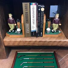 Pair Of Ornamental Golf Bookends New In Box