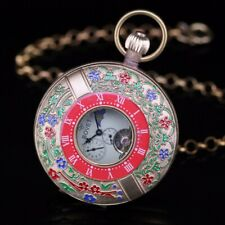 Double Half Hunter Copper Archaize Imperial Artistic Hand Wind Pocket Watch