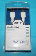 BTech Sinox SXV1933 Ultra Flat HDMI Cable HDMI Male to HDMI Male - 3.0m  *NEW*