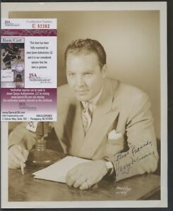 E52262 Harry Wismer Signed 8x10 Photo AUTO Autograph JSA COA
