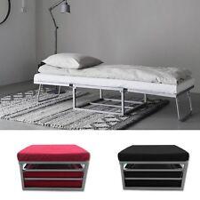 Pouf letto recrinabile in microfibra moderno divano letto estraibile pouff | 23