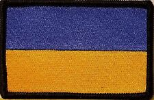 Ukraine Flag Iron-On Patch Tactical Morale Emblem Black Border