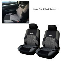 2pcs Gray Polyester Front Seat Covers Universal Fit Auto Car Interior