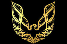Universal Custom Large Vinyl Hood Decal Classic Trans Am Fire Bird GOLD FIREBIRD