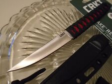 CR2367RSC CRKT Obake Red Satin 8Cr14MoV Blade Black Cord Red rayskin handle GRN