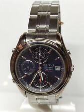 Orologio Orient Chrono Data Quarzo Acciaio 39mm Vintage Scontatissimo Nuovo