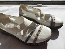 Damen Halbschuh Sneaker Slipper Antistress Rieker gr. 38 weiß   NEU WERTIG