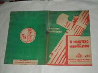 """FASCISMO - I QUADERNI DELLE CORPORAZIONI N.21  DEL 1927 """"IL MINISTERO DELLE CO """""""