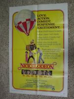 Vintage NICKELODEON 1976 27x41 - Movie Poster Burt Reynolds Ryan O'Neal