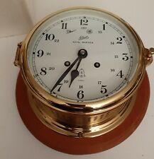 Vintage Schatz Brass Germany Royal Mariner Chime Clock New in box , with key