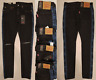 Levis Mens Lo-Ball Stack Tapered Slim Fit Knee Rip Stretch Jeans 34, 38, 40, 42