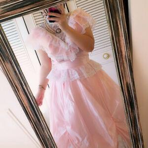 stuning vintage 80S GUNNE SAX pink lace prom dress