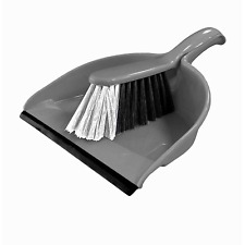 Signature Dustpan and Brush Set Silver 32 X 22.5 X 10.5cm Handle Cleaning Home