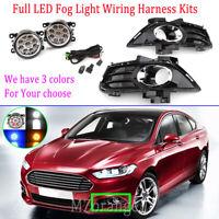 LED Full Set Front Fog Light Lamp Wiring Kits For Ford Mondeo MD 2014-2019 LH+RH