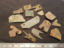Lovely lot of Roman to Medieval bronze mainly buckle plates & oth artifacts L20z