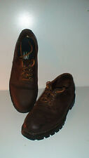 "ROOTS ""TUFF"" DRK BRWN LEATHER SHOES SIZE 9D UNISEX  IN GENTLY WORN CONDITION"