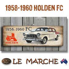 "HOLDEN GM ""1958 - 1960 FC Sedan"" Wooden Rustic Plaque / Sign (FREE POST)"